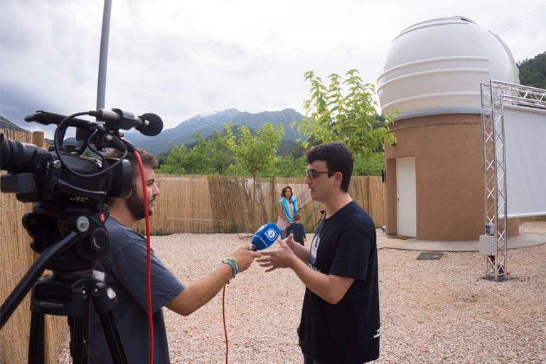 Albanyà inaugurates a new astronomical observatory