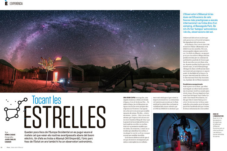 The 'Sàpiens' magazine dedicates a feature report to the Albanyà Astronomical Observatory